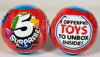 Lot of 2 New Zuru 5 Surprise Capsule Collectable Mystery Unknown Toys 5 Per Ball
