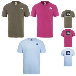 Men's The North Face Redbox Short Sleeve T Shirt Tee Purple Blue Olive Green