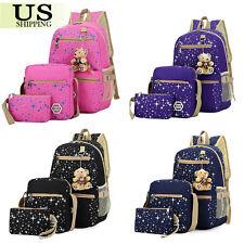 Women s Backpack School Book Bags Satchel Shoulder Rucksack Canvas Travel  Bag US c6ddd781b