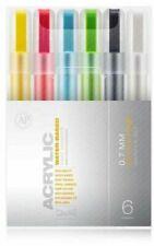 MONTANA  0.7mm (Extra Fine) Acrylic Paint Markers - 6 Pk - NEW - Free Shipping