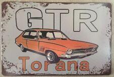TORANA Garage Rustic Look Vintage Tin Signs Man Cave, Shed & Bar Sign,