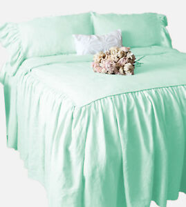 """1 Piece 800tc Egyptian Cotton Dust Ruffle Bed Spread 15"""" drop all size & color"""