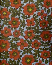 Vintage FLOWER POWER retro fabric 1970s cotton /polycotton 35 x 90 inches