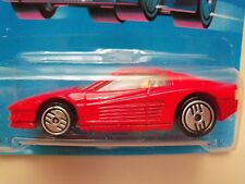 1989 HOT WHEELS - SPEED FLEET / NEW MODEL - FERRARI TESTAROSSA - UNPUNCHED CARD
