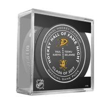 Anaheim Ducks Paul Kariya Teemu Selanne Hall Of Fame 11/19 Official Game Puck