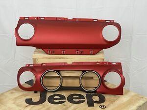 $200.00 after core return Redical Red Dash Panel Jeep Wrangler JL Gladiator JT