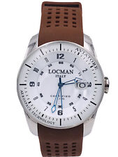 Orologio Locman Aviatore Titanio  43mm 453WM/420 Gomma Scontatissimo Nuovo
