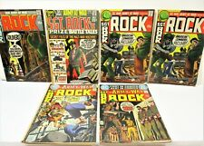 LOT OF 6 OUR ARMY AT WAR, ROCK, 1970'S COMIC BOOKS
