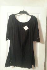 NWT La Perla Black Swim Cover Up Dress Size 6