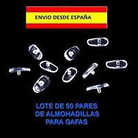 ALMOHADILLAS PARA GAFAS RECAMBIOS 50 PARES LENTES GLASSES PADS SOPORTE OPTICAS