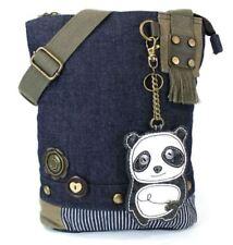 Chala Purse Handbag Denim Canvas Crossbody With Key Chain Tote  Panda Bear