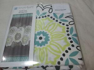 New Saturday Knight Limited SANTA CRUZ Medallion Fabric Shower Curtain 72x72 ~