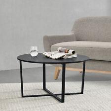 B-WARE Couchtisch Tisch Beistelltisch Wohnzimmertisch Sofatisch Ø80cm Schwarz