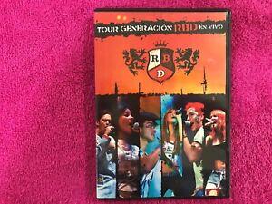 REBELDE RBD DVD TOUR GENERACION RBD EN VIVO ANAHI DULCE MARIA ALFONSO MAITE CHRI
