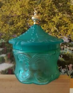 "Vintage Moonwind Emollient Bath Pearls, Avon. Venetian blue, no box 5"" by 3.5"""