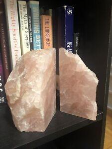 rose quartz book ends