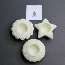 Partylite Sea Drifters Bisque Porcelain Votive Holders P7103 Shells Starfish