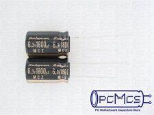 6 Rubycon MCZ 6.3V 1800UF Ultra Low ESR VRM Computer Motherboard Capacitor 10x16