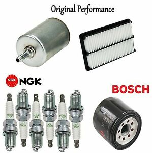 Tune Up Kit Air Oil Fuel Filters Plugs for Isuzu Rodeo V6; 3.2L 1997-2002