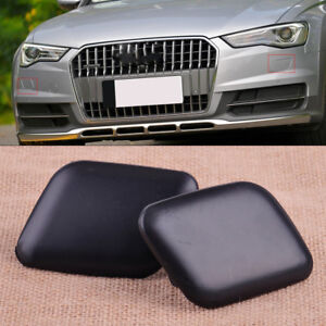 2x Front Left Right Headlight Bumper Washer Jet Cover Cap Fit For Audi A6 C5