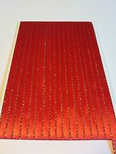5M 6mm Thin Red Gold Edged Satin Ribbon Trim Card Making Scrapbooking Christmas
