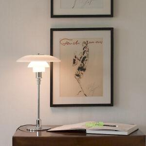Modern Classic PH 3/2 Glass Table Lamps LED Silver Desk Light Lighting Design
