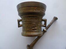 Ancien Mortier d'Apothicaire à Anses, RICHARD STARTYN 1623 Bronze Doré - XIXème