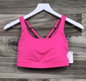 NWT Lululemon Energy Bra *Medium Support, Size 6, B/C Cup Pink Highlight PIHL