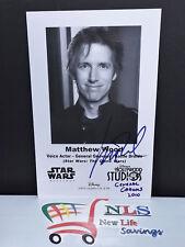 Disney Star Wars Weekends Autographed General Grievous Matthew Wood 5.5 x 8.5