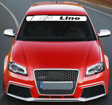 For AUDI S LINE VINYL STICKER Windscreen Stripe Windshield BANNER DECAL Graphics