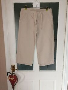 Knee Length linen Shorts Size 10 By Dunnes
