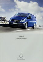 Mercedes Vito Kastenwagen Mixto Prospekt 2006 9/06 Autoprospekt brochure Katalog