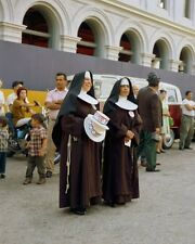 Catholic Nuns await arrival of Robert F. Kennedy in Los Angeles New 8x10 Photo