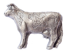 Holstein Friesian Cow Cattle Pewter Pin Badge
