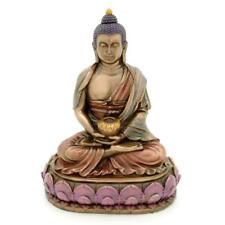 "BUDDHA STATUE 6"" Meditating Buddhist Deity Bronze Resin HIGH QUALITY Amitabha"