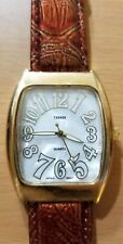 Bijoux Terner women analog watch K-10355 bronze band rectangle gold tone case