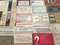 Lot of 30 VINTAGE old GREETING postcards ART CRAFTS Sayings MOTTO mottos-p705
