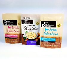 3 PURE BALANCE STARTERS Creamy Gourmet Recipe in Broth Cat Treats