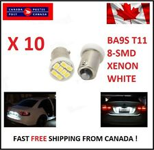 10X BA9S T11 1206 8SMD T4W H6W Led License Plate Map Dome LED Light Xenon Short