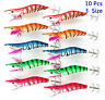 10pcs Squid Jigs Random Color Mixed Squid Jig Fishing Lure Size 2.5# 3.0# 3.5#