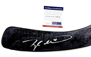 TAYLOR HALL SIGNED NEW JERSEY DEVILS STICK PSA/DNA X10114