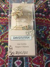 David Tutera Flower Hair Combs Gold 2 Pcs