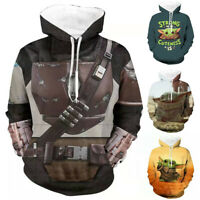 Star Wars The Mandalorian Hoodies Sweatshirts Cosplay Hooded Casual Jacket Coat