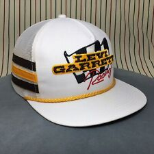 232 Vtg Levi Garrett Racing 3 Stripe Trucker Hat K Products Snapback Cap USA 80s