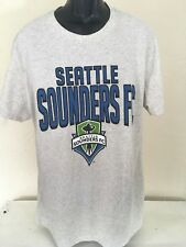 MLS Sports Seattle Sounders FC Men's Short Sleeve Gray Cotton Blend Tee Shirt