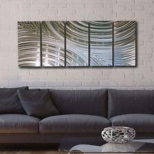 Silver Modern Contemporary Metal Wall Art Sculpture by Jon Allen - Synchronicity