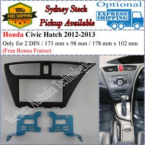 Fascia facia Fits Honda Civic Hatch Back HatchBack 2012-2016 Double Two 2 DIN