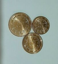 Portugal 1+2+5 Euro Cent Coins