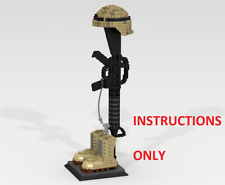 CUSTOM LEGO Battlefield Cross. United States Army. INSTRUCTIONS ONLY (NO PARTS)