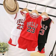 Niños Bebé Chicos #23 Michael Jordan Bulls Baloncesto camisetas corto trajes UK